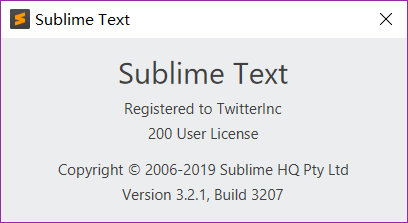 《Sublime Text 3截止2019.04.08最新版本破解 3207》